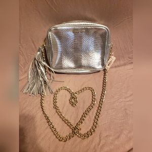 *SOLD* Victoria's Secret Silver Crossbody Bag